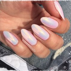 That awkward time between summer and winter made that much better with the pairing of Madam Glam Rosy Nude under Indigo Nails Lab. (no filter) Cute Nails, Pretty Nails, Hair And Nails, My Nails, Opal Nails, Acryl Nails, Madam Glam, Chrome Nails, Holiday Nails
