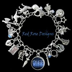 Once Upon A Time Themed Charm Bracelet by RedRoseUniqueDesigns