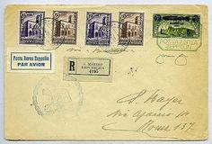 Pontificio - 1933 San Marino - Volo circolare in Italia - busta racc. aerea da S. Marino 27.5.33 a Roma con 4 val. Conv. Filatelico (176/9) + PA Zeppelin 5 l. (12).