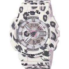 G-Shock Baby-G White Series Luxury Watch - White / One Size Women Wrist Watches G Shock Watches, Casio G Shock, Wrist Watches, Sport Watches, Sports Baby, Affordable Watches, Baby G, White Leopard, Leopard Pattern