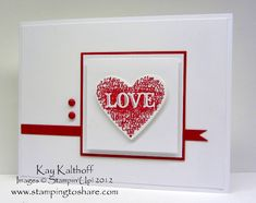 CAS Love Heart by Speedystamper - Cards and Paper Crafts at Splitcoaststampers