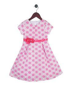Love this Pink Floral Dress - Toddler & Girls by Joe-Ella on #zulily! #zulilyfinds