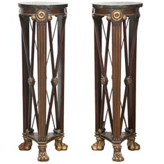 Pair of French Empire Style Pedestals  | From a unique collection of antique and modern pedestals at http://www.1stdibs.com/furniture/tables/pedestals/