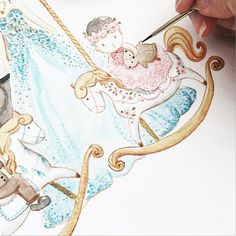 our favorite part ... detailing ! | Commisioned illustration for a very lovely family | work in progress | #artlovers #atelier #womenartists#drawing #draw#instartpics#art_we_inspire#arts_help#worldofartists#handpainted#watercolor#watercolour#illustration#watercolorillustration#cutedrawing#whiteaddict#whitecultural#bigbearandbird#cute#happy#instagram#carousel#baby#littlegirl#