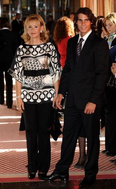 News Photo: Tennis player Rafael Nadal and his mother arrive…