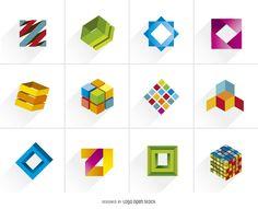 Creative Cube Logo Icons