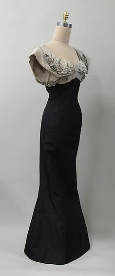 Evening dress Designer: Charles James (American, born Great Britain, 1906–1978) Manufacturer: (sample made for) Samuel Winston Date: 1952–53 Culture: American Medium: silk