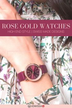 Looking for a rose gold watch? These Swiss watches for women with rose gold accents or bands make great gifts for women with an elegant style. Ladies Watches, Watches For Men, Great Gifts For Women, Swiss Made Watches, Rose Gold Watches, Spring Style, Gold Accents, Michael Kors Watch, Bands
