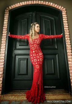 Crochetemoda: Vestido Longo de Crochet