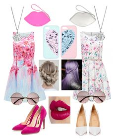 BFF♡ by ximena-diaz-carrion on Polyvore featuring polyvore fashion style Forever New Christian Louboutin Rupert Sanderson Lulu Guinness Lee Renee Accessorize Charlotte Tilbury