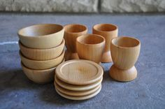Wooden Toy Dishes - A Waldorf And Montessori Inspired Pretend Play Kitchen Toy…