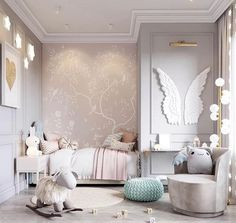 34 Atemberaubende Babyzimmer-Design-Ideen Best Picture For baby room decor theme For Your Taste You are looking for something, and it is going to tell you … Baby Bedroom, Baby Room Decor, Girls Bedroom, Bedroom Decor, Luxury Kids Bedroom, Childs Bedroom, Small Bedrooms, Bedroom Furniture, Bedroom Ideas