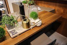 Kitchen inspiration with indoor plants from Milan Design Week 2019 #CaesarstoneSA