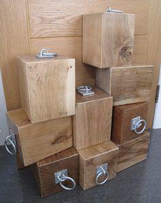 Solid Natural Oak Door Stop With Industrial Fitting. Heavy Wooden Door Stop.  Oak Block Doorstop With Metal Ring Handle