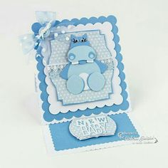 Tonic Studios - Wild Buildables - Hetty /Harry Hippo Tonic Cards, Studio Cards, Elizabeth Craft, Baby Christening, Baby Design, Baby Cards, Studios, Projects To Try, Card Making