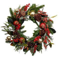Αποτέλεσμα σχετικών εικόνων Pine Cone Christmas Tree, Christmas Tree Ornaments, Christmas Diy, Christmas Wreaths, Outdoor Settings, Diy Weihnachten, Xmas Decorations, Pine Cones, Pomegranate