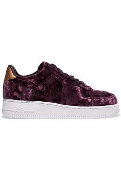 e987c66e0f8eef Nike - Air Force 1 metallic faux leather-trimmed crushed-velvet sneakers