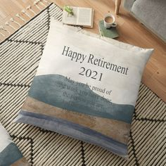 Retirement Presents, Happy Retirement, Phone Wallet, Phone Cases, Floor Pillows, Throw Pillows, Tablet Cover, Wallets, Pillow Covers