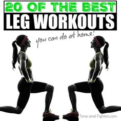 """20 Of The Best At-Home Leg Workouts - dietandskinhelp.org - Workouts, healthy recipes, motivation, tips, and advice all right to your inbox! Subscribe to Tone-and-Tighten.com RIGHT HERE and get our FREE """"Beginner's Guide To Weight Loss"""" ebook! Lookin"""