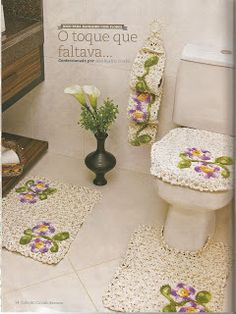 Mania-de-Tricotar: Jogo de banheiro em crochê!!