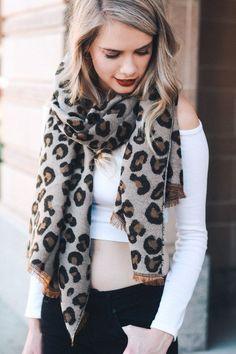 Leopard Print Blanket Scarf #JessLeaBoutique
