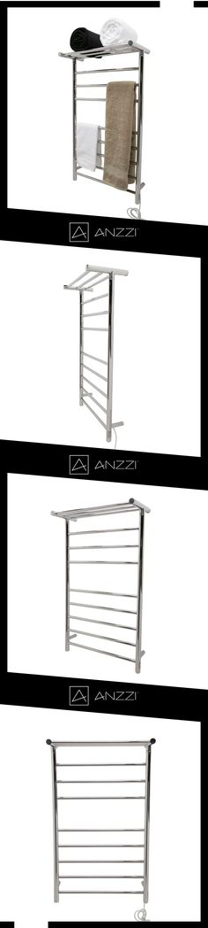 ANZZI Note 6 Bar Stainless Steel Wall Mounted Electric Towel Warmer Rack In  Polished Chrome (Grey) | Towel Warmer Rack, Minimalist Design And Wall Mount