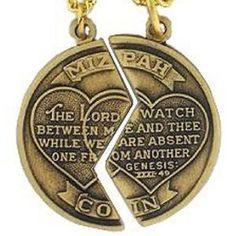 Amazon.com: Mizpah. Charm Breakable 14k Old Gold.tone Two Steel Chain: Jewelry