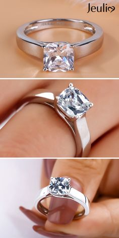 Breathtaking Engagement Ring At Jeulia. Take A Look At These Stunning Photos Of Beautiful Rings. We Offer Premium Quality Jewelry At Affordable Price. Buy Now! Wedding Rings Online, Silver Rings Online, Antique Style Engagement Rings, Diamond Engagement Rings, Unique Rings, Beautiful Rings, Jewelry Stores Near Me, Silver Ring Designs, Black Rings