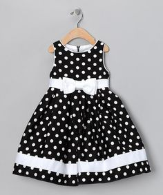 Take a look at this Black & White Dotty Dress - Infant, Toddler & Girls by Spring Soire: Girls' Dresses on today! sarahandava Take a look at this Black & White Dotty Dress - Infant, Toddler & Girls by Spring Soire: Girls' Dresses on today! Little Girl Outfits, Little Girl Fashion, Little Girl Dresses, Fashion Kids, Kids Outfits, Baby Outfits, Baby Girl Dresses, Baby Dress, Dot Dress