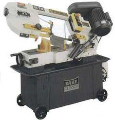 Dake-Johnson SE-912 horizontal bandsaw on roller cart #machine #tool