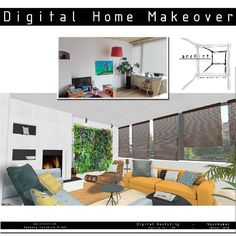 Want something.else in your #interior? #Ask for a #digital #makeover. #tryouts , #design, #restyling. #verticalgarden from @diycraftsmagazine .