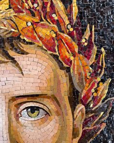 A historical glance. Mosaic Art Projects, Mosaic Crafts, Ceramic Mosaic Tile, Marble Tiles, Mosaic Portrait, Paper Collage Art, Pottery Sculpture, Mosaic Designs, Face Art