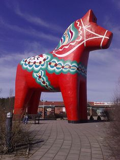 Worlds largest Dala-horse, Avesta, Sweden by Robban Andersson Stockholm, Swedish Style, Swedish Decor, Swedish Design, Scandi Style, About Sweden, The Swede, Sweden Travel, Italy Travel