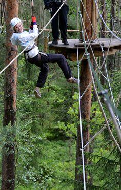 Yläilmoissa! In the treetops! #seikkailupuistohuippu #treetopadventure