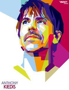 Anthony Kiedis Red Hot Chili Peppers WPAP by bennadn.deviantart.com on @DeviantArt