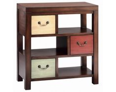 3 Drawer Accent Chest w/ Multi-Colored Drawers - Sam Levitz Furniture