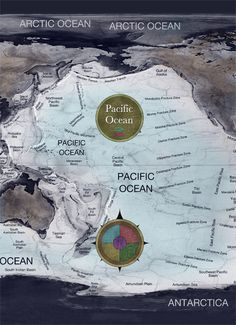 Pacific Ocean, map cover