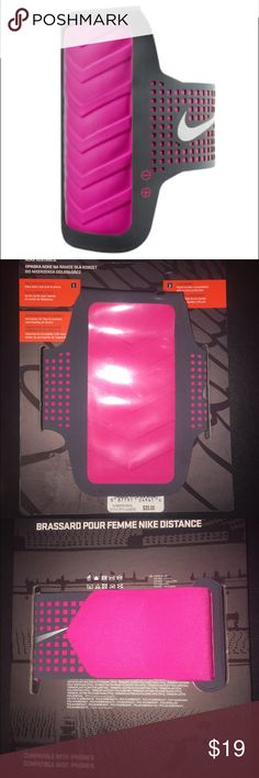 Nike Women's Distance Arm Band for iPhone 6 Anthracite/Pink iPhone 6 Armband Nike Accessories Phone Cases
