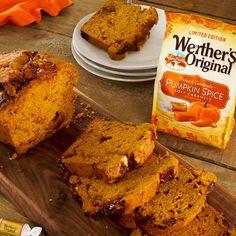 Pumpkin Recipes, Fall Recipes, Holiday Recipes, Snack Recipes, Dessert Recipes, Cooking Recipes, Snacks, Pumpkin Spice Bread, Tummy Yummy