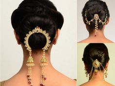 For a traditional Indian look, use a 'Juda' (bun) Pin. These are some of our favourites. :) #indian #wedding #hair