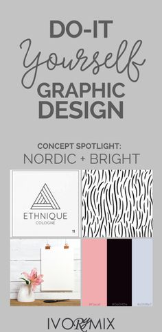 Do graphic design for your blog yourself. Color concept spotlight: Nordic Scandinavian design and bright