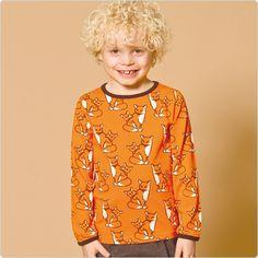 "Smafolk Shirt ""Fuchs"" orange - www.lolakids.de"