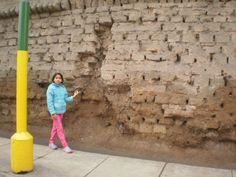 Descuido del histórico muro de Lima