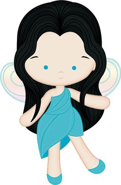 Princesas e Príncipes - playing fairy blue open eyes by lostanhellcreations. Tinkerbell Fairies, Disney Pop, Cute Clipart, Cute Images, Felt Dolls, Felt Animals, Cute Illustration, Doll Face, Clip Art