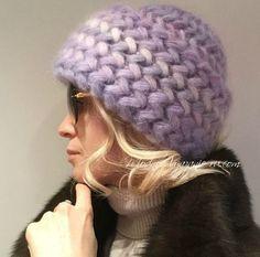 Шапка крючком узором колоски пышными столбиками - Crochet Modnoe Vyazanie