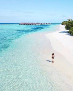 Kanuhura #Maldives Most Beautiful Beaches, Beautiful Places, Water Bungalow, Maldives Resort, Holiday Resort, Beaches In The World, Beach Photography, Ocean Beach, Beach Resorts