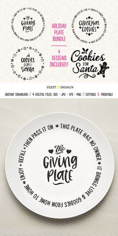 Cricut Projects Discover Christmas SVG Cookie Plate svg Giving Plate Christmas Cookie Plate Bundle Cutting file for crafting or plate design Christmas Vinyl, Merry Christmas, Christmas Plates, Christmas Projects, Christmas Cookies, Christmas Gifts, Christmas Crafts To Sell Make Money, Christmas Ideas, Christmas Craft Fair