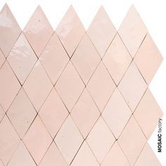 Pastel pink in diamond shape ZELLIGE tiles from Mosaic Factory. The ZELLIGES is … - Targets. Moroccan Tiles, Moroccan Decor, Moroccan Bathroom, Mosaic Del Sur, Color Rosa Claro, Terrazo, Bathroom Color Schemes, Pink Tiles, Bathroom Design Inspiration