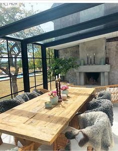 Sunroom with Fireplace . Sunroom with Fireplace . 16 Irresistible Modern Sunroom Designs that Will Industrial Interior Design, Industrial Interiors, Outdoor Rooms, Outdoor Living, Outdoor Furniture, Indoor Outdoor, Outdoor Patio Designs, Patio Ideas, Pergola Designs