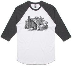 theIndie Gardening Shed (Black) 3/4-Sleeve Raglan Baseball T-Shirt